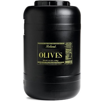 Roland Kalamata Olives, Whole, Pitted, 22-Pound Dry Weight Tub