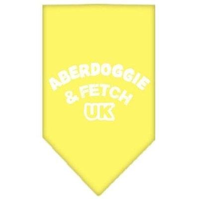 Mirage Pet Products 6602 SMYW Aberdoggie UK Screen Print Bandana Yellow Small