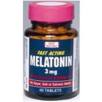 Ony Natural Only Natural Melatonin, 3 Mg 60-Count