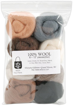 Wistyria Editions Wool Roving - Furry Friends