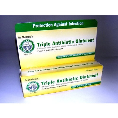 Sheffield Pharmaceuticals Triple Antibiotic Ointment Net WT, .033 oz(9g)