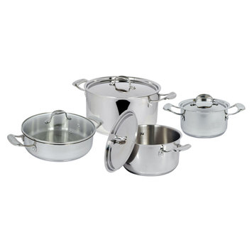 Crystal Promotions Better Chef 8-Piece Stainless Steel Cookware Set