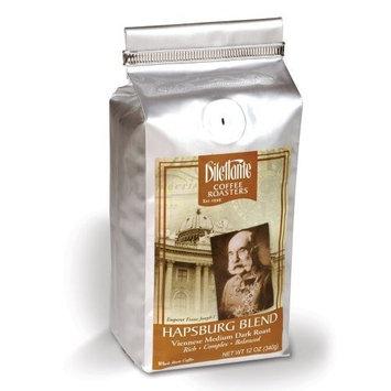 Dilettante Hapsburg Blend, Medium Dark Roast Coffee, Whole Bean, 12-Ounce Bags (Pack of 2)