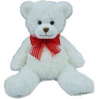 First & Main Valentines Plush Stuffed White Bear, 15