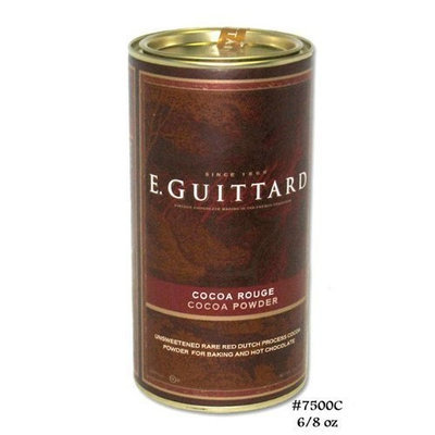 E. Guittard E Guittard Cocoa Powder, Unsweetened Rouge Red Dutch Process Cocoa, 8oz Can