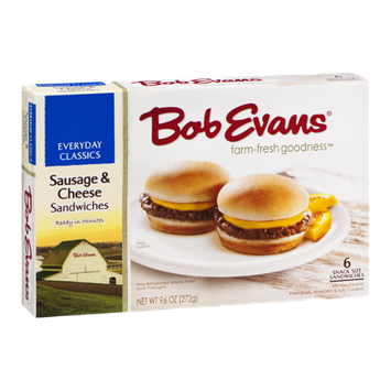 Bob Evans Everyday Classics Sausage & Cheese Sandwiches - 6 CT