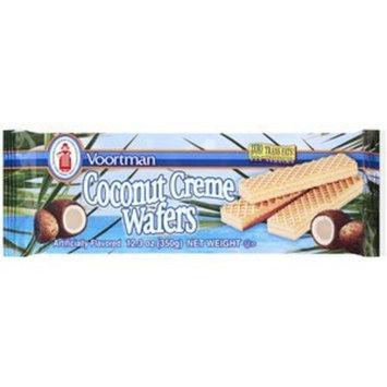 Voortman, Coconut Creme Wafers, 12.3oz Bag (Pack of 4)