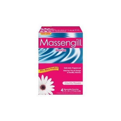 Massengill Disposable Douche 4 Pack-Country Flowers-6 oz