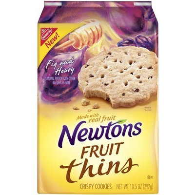 Newtons  tons Fruit Thins Fig and Honey, 10.5-Ounce (Pack of4)