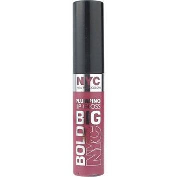New York Color Big Bold Plumping Lip Gloss, Pumped up Purple, 0.39 fl oz Purples