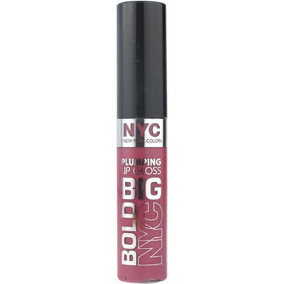 New York Color Big Bold Plumping Lip Gloss, Pumped up Purple, 0.39 fl oz Purples