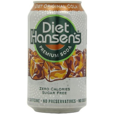 Hansen's Diet Original Cola, 12 Ounce Cans (Pack of 24)