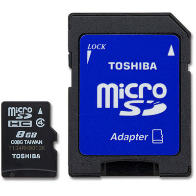 Toshiba Class 4 8GB MicroSD Card with STD Adapter