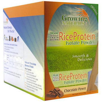 Growing Naturals Rice Protein Isolate Powder Packets, Chocolate Power, 12 ea
