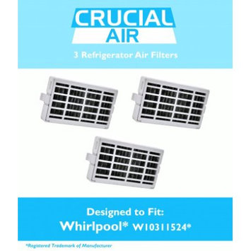 Crucial Air 3 Whirlpool Air1 Refrigerator Air Filters, Part # W10311524, 2319308 & W10335147