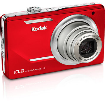 Kodak EasyShare M380 Red 10.2MP Digital Camera with 5x Optical Zoom, 3