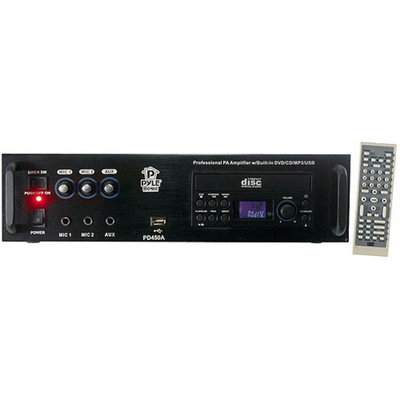 Pyle Professional PA Amplifier w/Bulit In DVD/CD/MP3/USB/70V Output