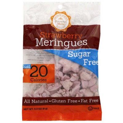 Krunchy Melts Sugar Free Strawberry Meringues Cookies, 0.3 oz, (Pack of 24)