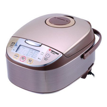 TATUNG TFC-5817 silver stainless steel with light gold top cover 8 cups uncooked fuzzy rice cooker