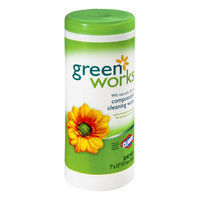 Clorox Green Works Compostable Cleaning Wet Wipes - 30 CT