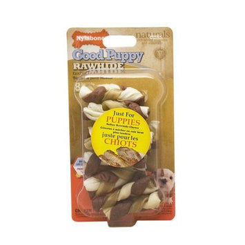 Nylabone Rawhide Chicken Flavored Braid Puppy Dog Treat Bone