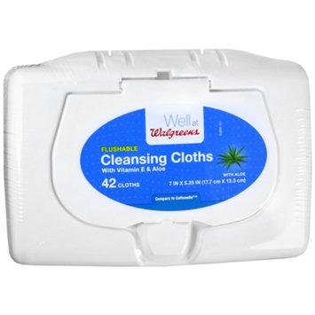 Walgreens Flushable Wipe Tub Blue