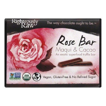 Righteously Raw 2.3 oz. Organic Maqui & Cacao Rose Bar Case Of 12