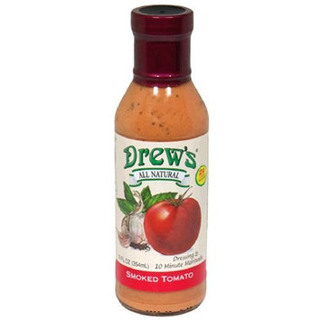 Drews All Natural Drew's All-Natural Salad Dressing and 10 Minute Marinade, Smoked Tomato, 12-Ounce Bottle