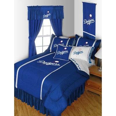 MLB LA Dodgers Bedding Set - Los Angeles Comforter Sheets - Full Bed