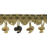 DecoPro Imperial Collection Trims Taupe, Black 2