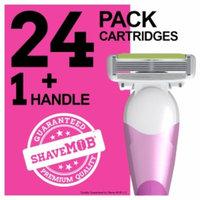 Shavemob ShaveMob Women's 6 Blade Shaving Razor Kit - 24 Cartridges & 1 Handle, 1 set