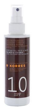 KORRES Walnut & Coconut SPF10 Suntan Oil Face & Body