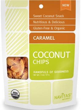 Navitas Naturals CARAMEL COCONUT CHIPS, OG2, (Pack of 12)