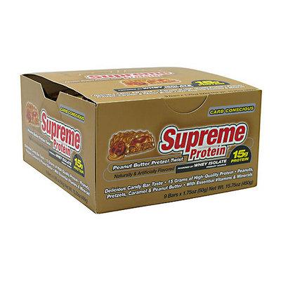 Supreme Protein Peanut Butter Pretzel Twist Protein Bars