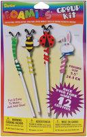 Darice Foam Group Kit, 12/pkg, Pencil Topper Critters, 9.5