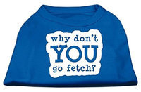 Mirage Pet Products 51-142 XXLBL You Go Fetch Screen Print Shirt Blue XXL - 18