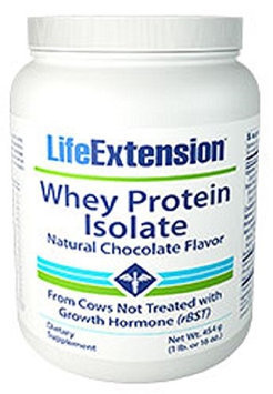Whey Protein Isolate (Natural Chocolate Flavor) by Life Extension - 454 Grams