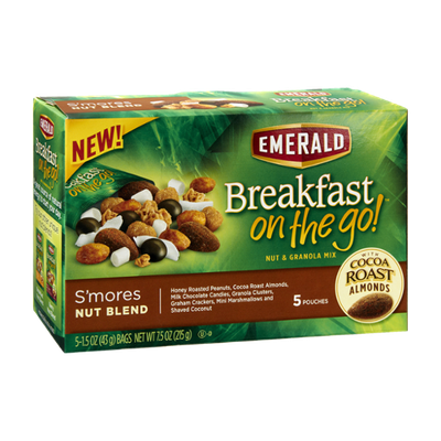 Emerald Breakfast On The Go! S'mores Nut Blend Nut & Granola Mix - 5 CT