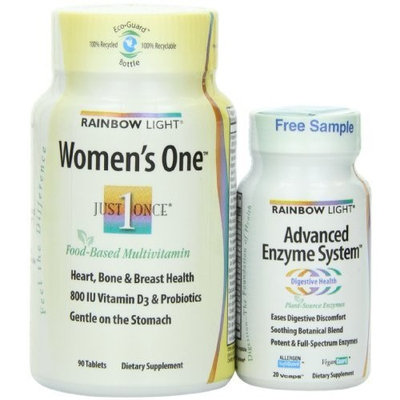 Rainbow Light Womens One and Advanced Enzyme System Dietary Supplement, 110 Count