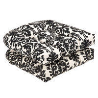 Pillow Perfect Outdoor 2-Piece Chair Cushion Set - Black/White Floral