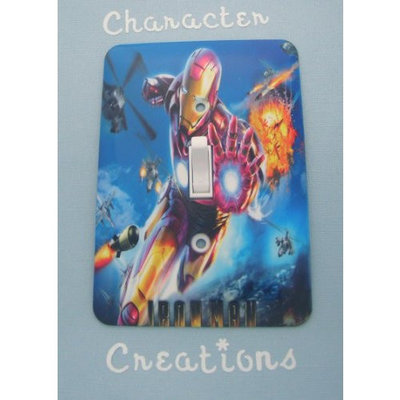 IRON MAN / Ironman Standard Metal Light switch Cover (Switch plate Switchplate)