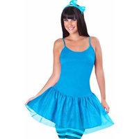 Gemmy Blue Neon Tutu Dress Adult Halloween Costume