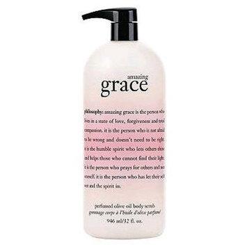 Philosophy Amazing Grace Perfumed Olive Oil Body Scrub 32 Fl. Oz Jumbo Size [Amazing Grace]