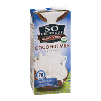 So Delicious Dairy Free Coconut Milk Beverage Vanilla