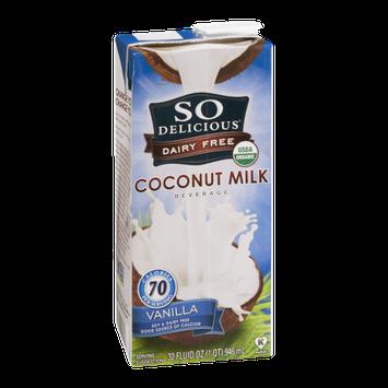 So Delicious Dairy Free Coconut Milk Beverage Vanilla
