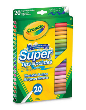 Crayola - Washable Super Tips Fine Line Markers 20-Pack