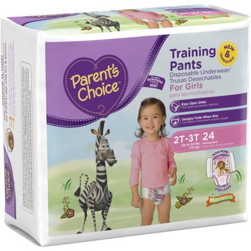 Parents Choice Parent's Choice Training Pants for Girls, Jumbo Pack (Choose Your Size)