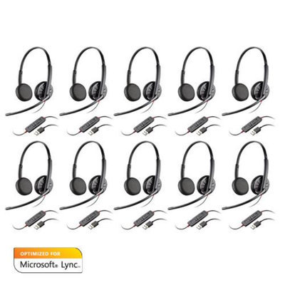 Plantronics Blackwire C325-M Microsoft Optimized Stereo Corded Headset 10-pack