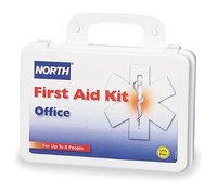 NORTH BY HONEYWELL 0197380025L First Aid Kit, Bulk, White, 140 Pcs, 8 Ppl