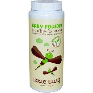 Little Twig Extra Mild Unscented Baby Powder, 4.5 oz